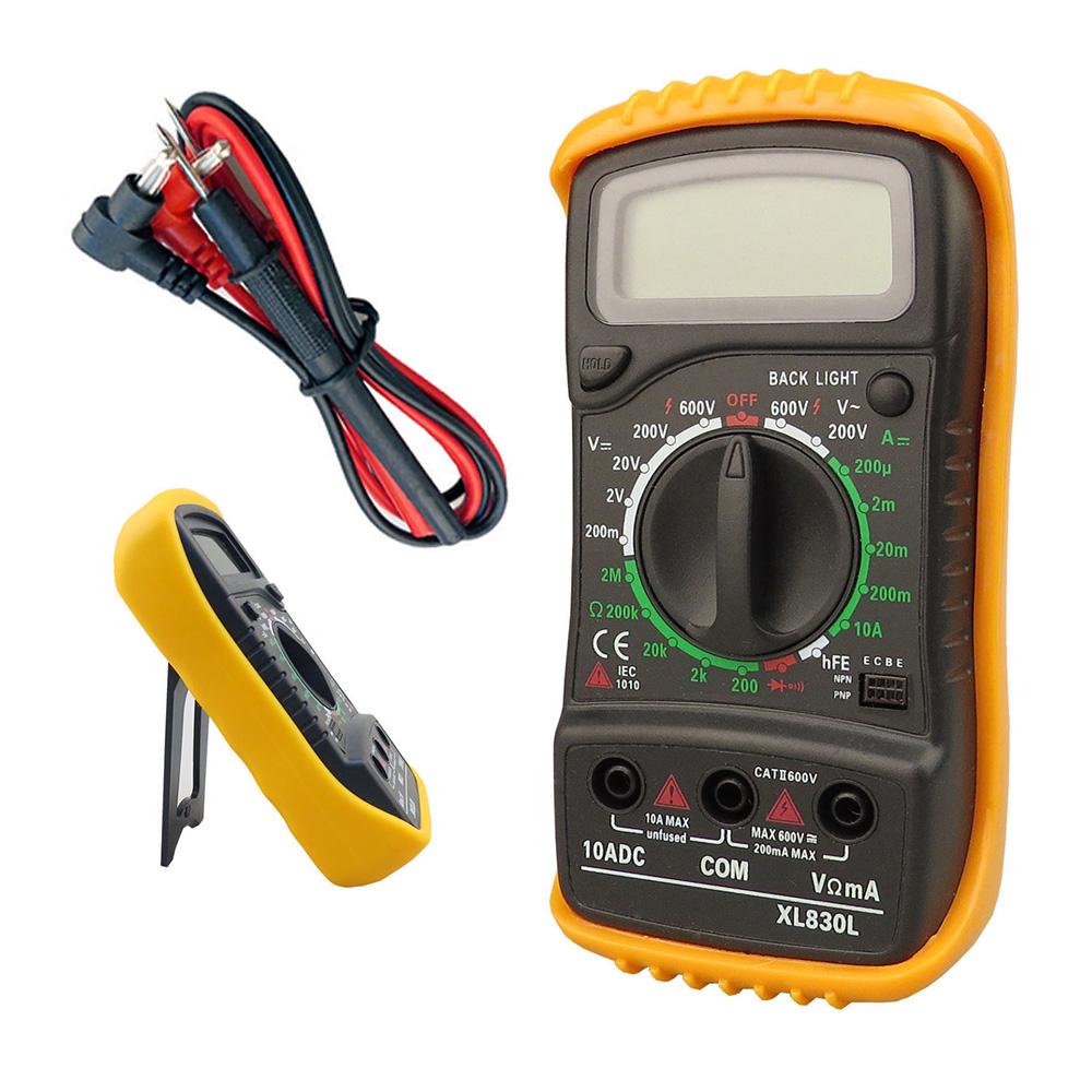 Digital Lcd Multimeter Voltmeter Ammeter Ohm Eshopping247 A830l Ac Dc Circuit Volt 589 Measures Voltage