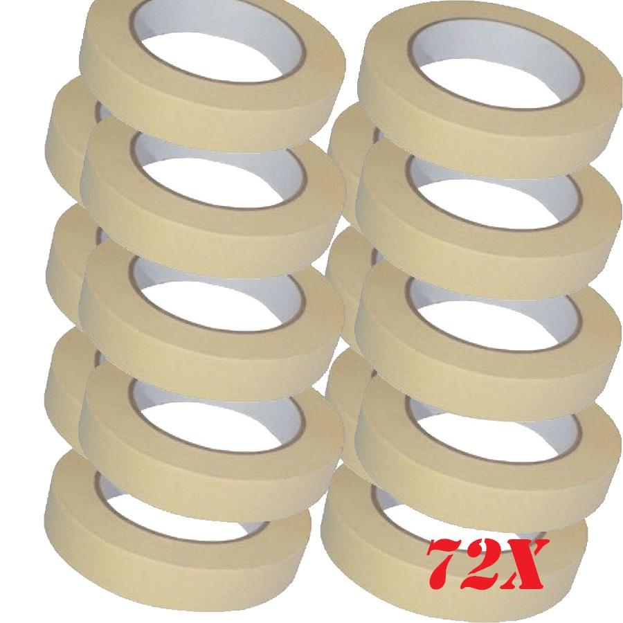 72 x low tack masking tape 25mm x 50m multi surface use eshopping247 - Masking tape utilisation ...