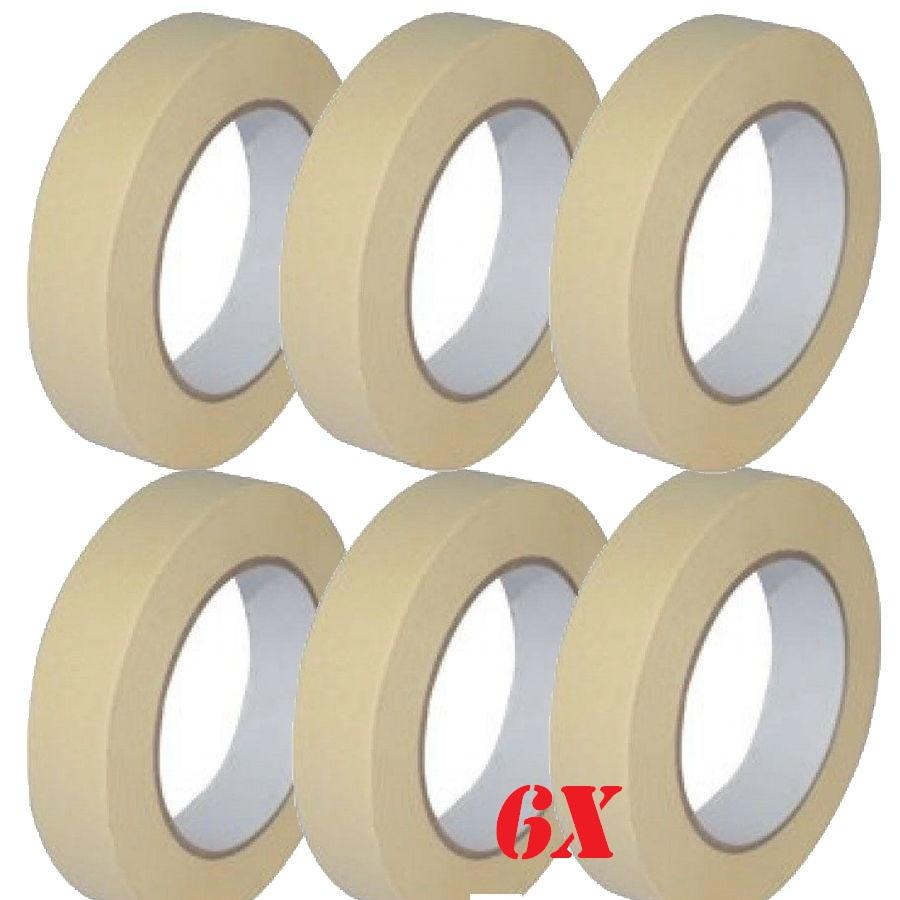 6 x low tack masking tape 25mm x 50m multi surface use eshopping247 - Masking tape utilisation ...